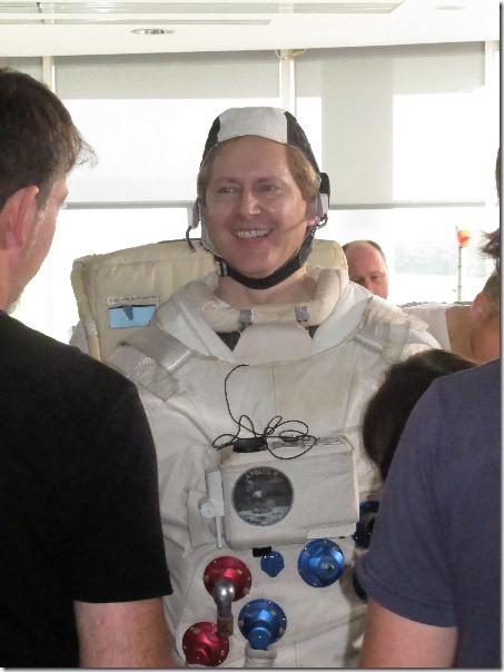 Brad McGehee in DBA in Space constume.