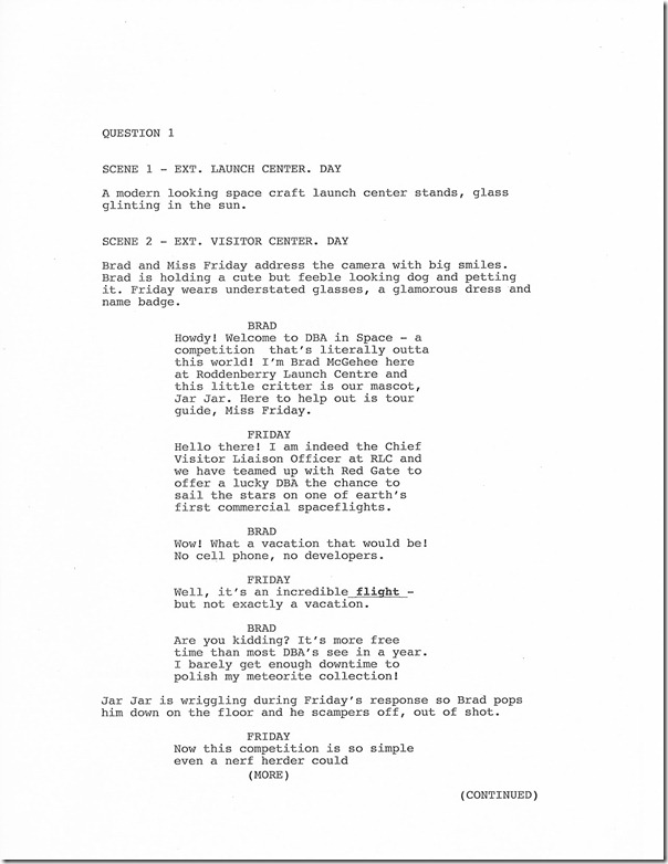 Page 1 of Script